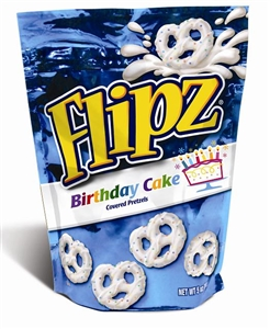 Birthday Cake Covered Pretzels Stand Up Pouch - 5 Oz.