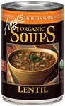 Light in Sodium Organic Lentil Soup - 14.5 oz.