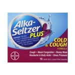 Alka-Seltzer Cold and Cough Liquid Gels 10 Count