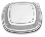 Lid Container 9 Low Dome Plastic Clear Cover - 9 in.