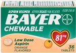 Bayer Aspirin Chewable Tablet Orange 3doz