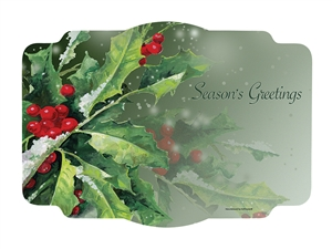 Holly Greetings Paper Placemat - 9.75 in. x 14 in.