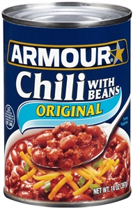 Armour Chili With Bean - 14 Oz.