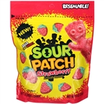 Sour Patch Soft and Chewy Candy Strawberry Fat Free - 10 Oz.