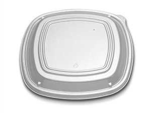 Container 10.25 in. Low Dome Plastic Clear Cover Lid
