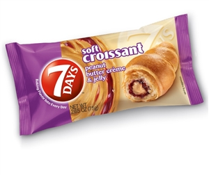 7 Days Soft Croissant Peanut Butter and Jelly - 2.65 Oz.