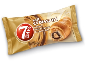 7 Days Soft Croissant Peanut Butter and Chocolate - 2.65 Oz.