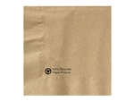 Kraft Beverage 1 Ply 100 Percent Recycled Napkin - 10 in. x 10 in.