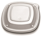Low Dome Forum Plate Lid Clear - 7 in.