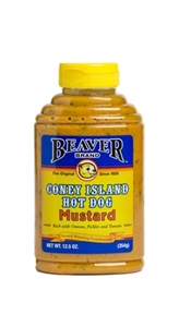 Beaver Coney Island Hot Dog Mustard Squeezable - 12.5 Oz.