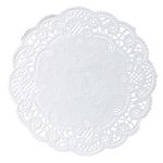 Round French Lace Doily Paper White - 4 in.