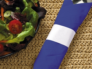 White Paper Band Napkin - 4.25 in. x 1.5 in.