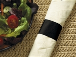 Black Paper Band Napkin - 4.25 in. x 1.5 in.