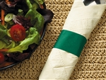 Hunter Green Paper Band Napkin - 4.25 in. x 1.5 in.