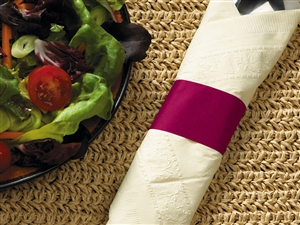 Burgundy Paper Band Napkin - 4.25 in. x 1.5 in.