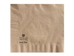 Earth Wise Dinner Kraft 2 Ply Quarter Fold 100 Percent Recycled Napkin - 17 in. x 17 in.