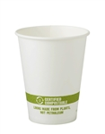 Hot Paper Cup with Ingeo Lining Green Stripe - 8 Oz.