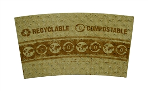 100 Percentage PCW Paper Compostable Hot Cup Sleeve - 8 Oz.