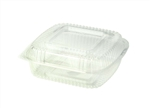 Ingeo Hinged Clamshell Clear 3 compartment Compostable - 8 in. x 8 in. x 3 in.
