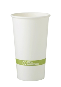 FSC Mix Compostable Paper Hot Cups - 20 Oz.