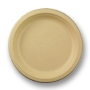 Unbleached Round Plant Fiber Plate - 7 in.