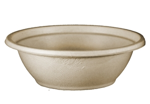 Compostable Unbleached Plant Fiber Bowls - 24 Oz.