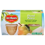 Delmonte Diced Pear Fruit Cups - 16 Oz.