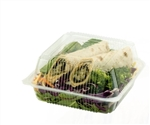 Ingeo Compostable Hinged Clamshell - 6.75 in. x 6.75 in. x 3 in.