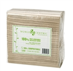 Unbleached Recyled Paper Lunch Napkins - 13 in.x 13 in.