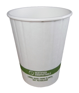 Double Wall Hot Cup With Bio Lining - 12 Oz.