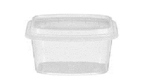 Rectangular Reusable Plastic Food Container Clear - 16 Oz.