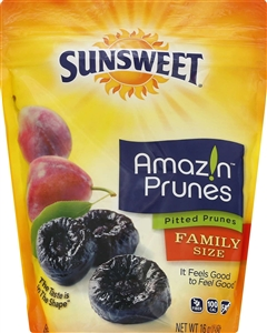 Sunsweet Pouch Pitted Prunes - 16 Oz.