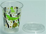 Cup With Lid Clear Kids Safari - 12 Oz.
