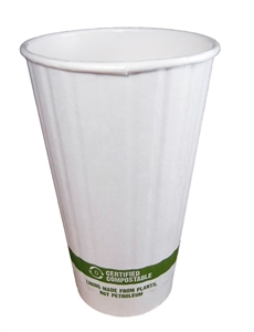 Double Wall Hot Cup with Bio Lining - 16 Oz.