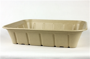 Plant Fiber Catering Tray Single Compartment - 120 Oz.