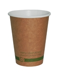 Kraft Paper Hot Cups Compostable - 8 Oz.