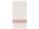 Napkin Din White and Red Dishtowel Fashnpoint Two Ply One Eighth Fold