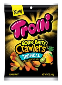 Trolli Tropical Sour Brite Crawler Peg - 5 Oz.
