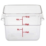 Camwear Square Storage Container Clear - 12 Qt.