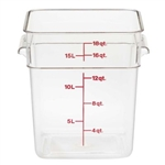 Camwear Square Storage Container Clear - 18 Qt.