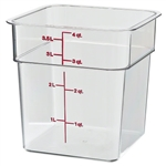 Square Container Plastic Clear - 4 Qt.