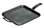 Square Cast Iron Griddle Preseasoned - 12 in.