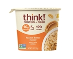 Thinkthin Honey Peanut Butter Oatmeal Bowls - 1.76 Oz.