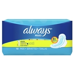 Always Thin Maxi Pads Regular Normal Wing