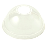 10-24 oz Cup Clear Ingeo Dome Lid No Hole