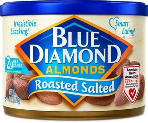 Blue Diamond Roasted and Salted Almonds - 6 oz.