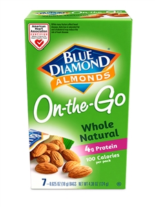 Blue Diamond Whole Natural Almond 100 Cal Pack - 4.38 oz.