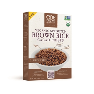 Veganic Sprouted Brown Rice Cacao Crisps - 10 Oz.