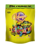 Kennys 4 in. Sour Neon Worms - 32 Oz.