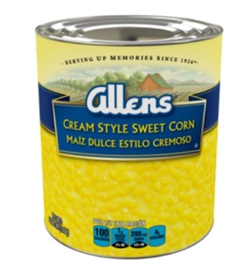 Allens Cream Style Sweet Corn - 106 Oz.